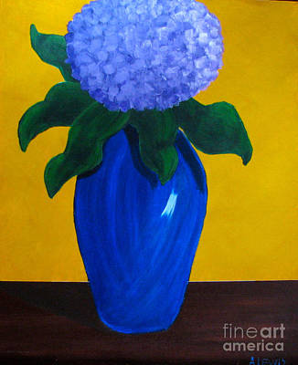 Painting - Blue Hydrangea by Anita Lewis