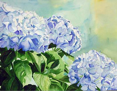 Blue Hydrangeas Art Print by Elizabeth  McRorie