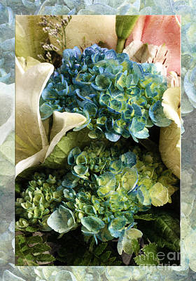 Photograph - Blue Hydrangeas Painterly by Andee Design