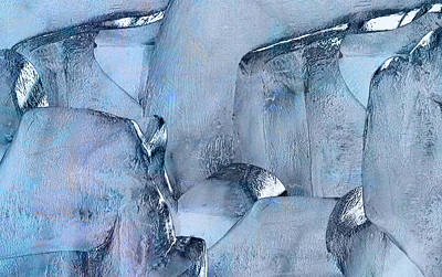 Subconscious Painting - Blue Ice by Jack Zulli