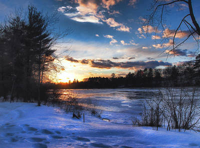 Landscape Photograph - Blue Ice by Joann Vitali