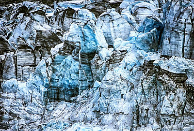 Photograph - Blue Ice by John Haldane
