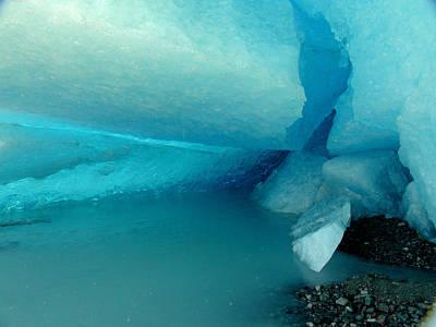 Blue Ice Art Print by Susan Stephenson
