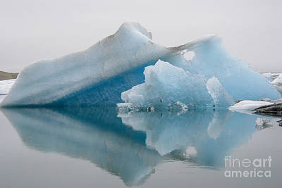 Photograph - Blue Icebergs by Patricia Hofmeester