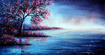 Mist Painting - Blue Illusion by Ann Marie Bone