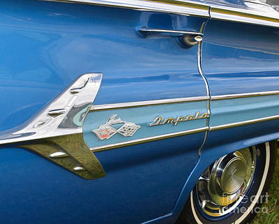 Photograph - blue Impala closeup by Mark Spearman