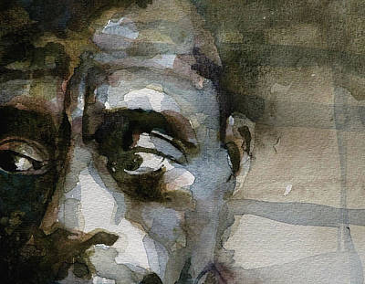 Celebrity Portraits Painting - Blue In Green  Miles Davis by Paul Lovering