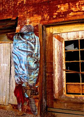 Art Print featuring the photograph Blue Indian by Marilyn Diaz