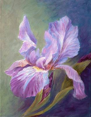 Blue Indigo Iris Art Print by Irene Hurdle