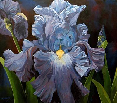 Blue Iris Art Print by Alfred Ng