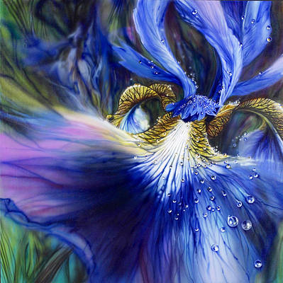 Painting - Blue Iris by Lynette Yencho