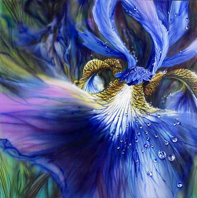 Painting - Blue Iris by Lynette Yencho