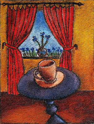 Painting - Blue Irises by Estefan Gargost