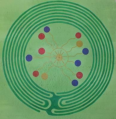 Blue Island Labyrinth Original by Folade Speaks