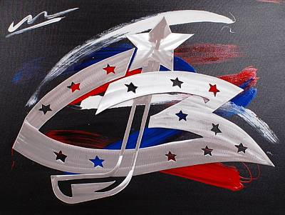 Blue Jackets Art Print by Mac Worthington