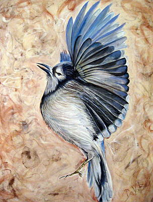 Painting - Blue Jay  by Jan VonBokel