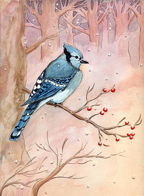 Blue Jay Art Print by Katherine Miller