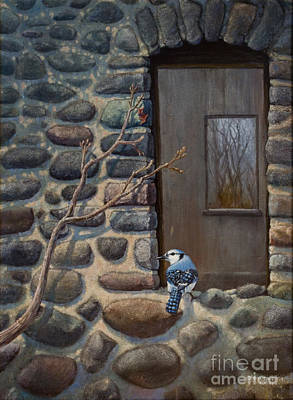Print featuring the painting Blue Jay by Rob Corsetti
