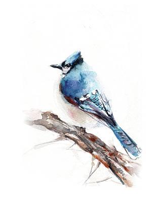 Blue Jay Painting - Blue Jay by Sophia Rodionov