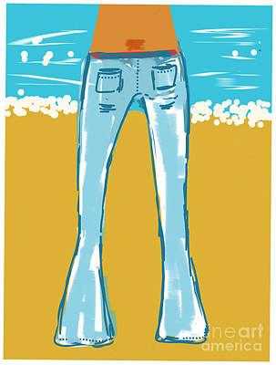 Blue Jean Summer Art Print