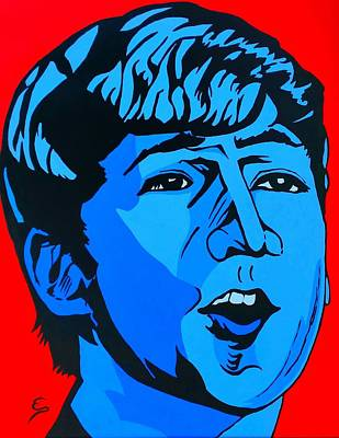 Painting - Blue  John Lennon by Edward Pebworth