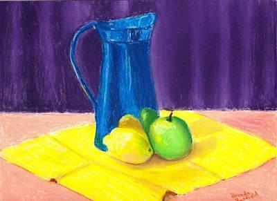 Blue Jug Art Print by Brenda Bonfield