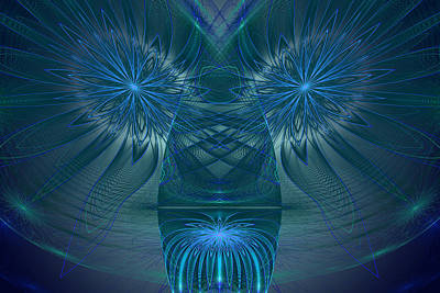 Phil Clark Digital Art - Blue Julian Vase by Phil Clark
