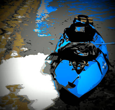Blue Kayak Original by Laurie Pike