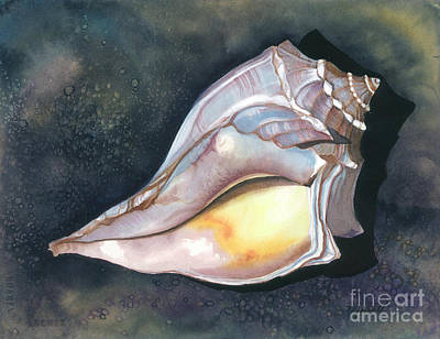 Painting - Blue-knobbed Whelk by Barbara Jewell