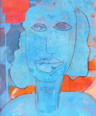 Mixed Media - Blue Lady by Catherine Redmayne