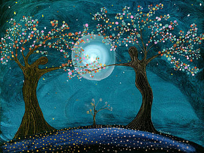 Painting - New Life By The Blue Moon by Kija  Elstad