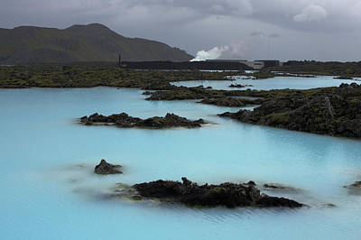 Blue Photograph - Blue Lagoon, Geothermal Pool by Ralph Lee Hopkins