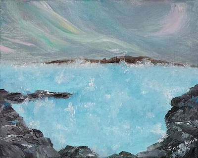 Painting - Blue Lagoon Iceland by Judith Rhue