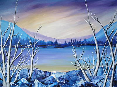 Blue Lake Art Print by Beverly Livingstone