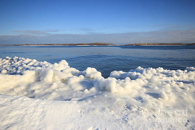 Photograph - Blue Lake Ice Shore by Charline Xia