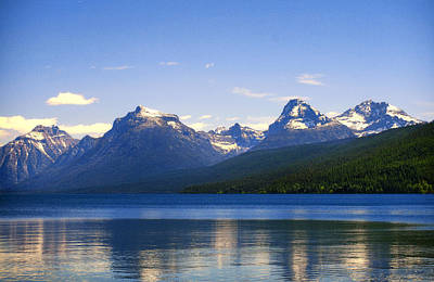 Montana Photograph - Blue Lake Mcdonald In Glacier Park by Jess Williams