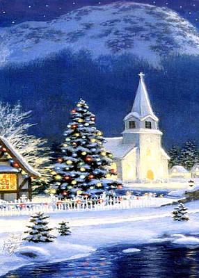 Christmas Cards Digital Art - Blue Lake by Munir Alawi