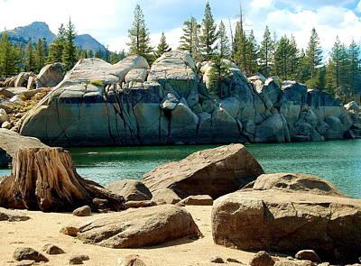 Photograph - Blue Lake Rocks by Tamyra Crossley