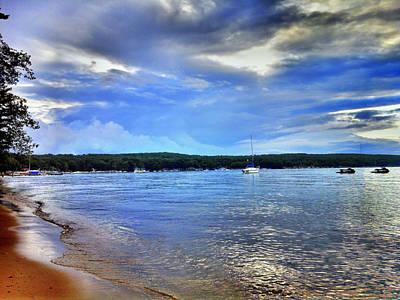 Storm Digital Art - Blue Lake Sky by Bill Noonan