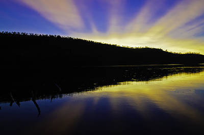 Photograph - Blue Lake Sunset by Sherri Meyer