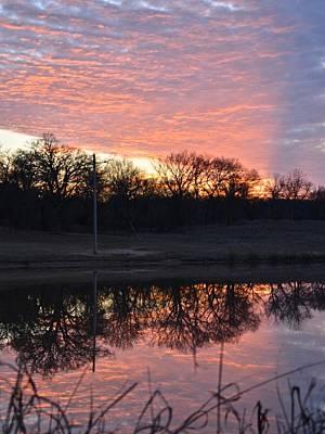 Photograph - Blue Lake Sunset Vi by Ricardo J Ruiz de Porras