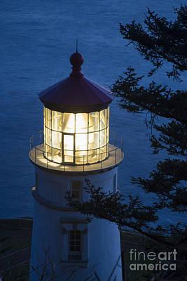Photograph - Blue Lighthouse by Brian Jannsen
