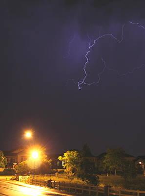 Photograph - Blue Lightning by Trent Mallett