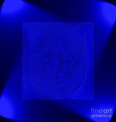 Digital Art - Blue Lights by Oksana Semenchenko