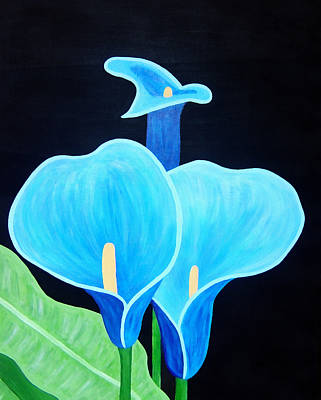 Painting - Blue Lilies by Angelina Vick