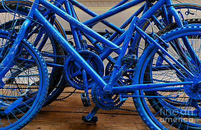Blue Limousines Art Print
