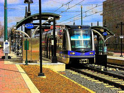 Art Print featuring the photograph Blue Line by Rodney Lee Williams