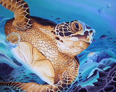 Painting - Blue Loggerhead by William Love