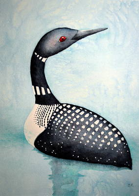 Rosedahl Painting - Blue Loon by Sarah Rosedahl