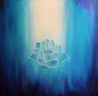 Blue Lotus Original by Alexandra Florschutz